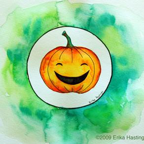 Halloween Jack-o-lantern – Painting