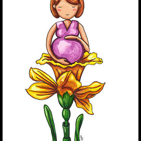 Pregnantly Waiting – Painting