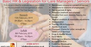NEW OPEN COURSE- HR & legislation for Care