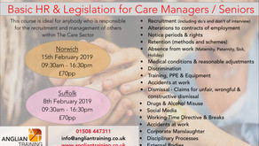 NEW OPEN COURSE- HR & legislation for Care