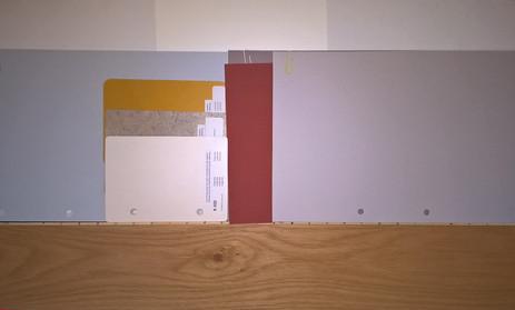 Materialkollage Wohnzimmer - Küche
