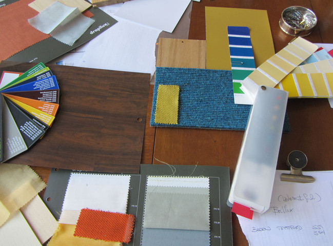 Farb- u. Materialkollage