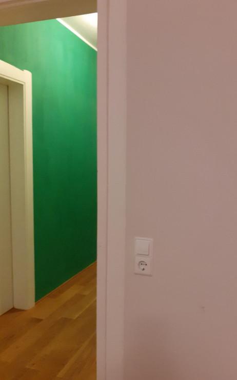 Farbspiel Schlafzimmer-Flur