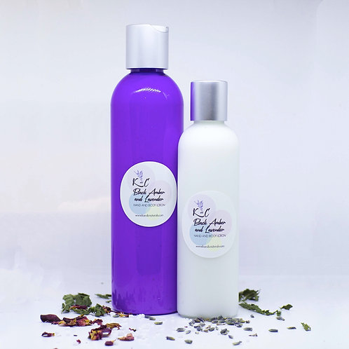 Black Amber and Lavender Lotion