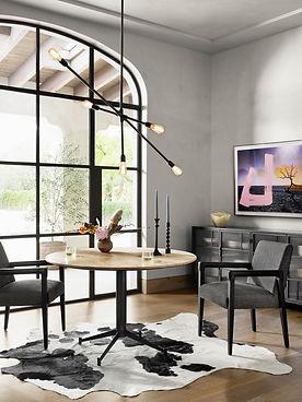 Reuben-Chair,-Lansbury-Dining-Table,-Violet-Sideboard,-Desert-Balance,-Thalia-Chandelier,-