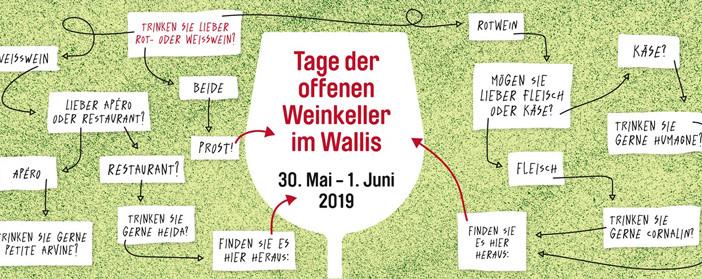 Tage der offenen Weinkeller im Wallis – Von 30. Mai bis 1. Juni 2019