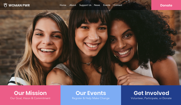 NYHETER! website templates – Women Empowerment NGO