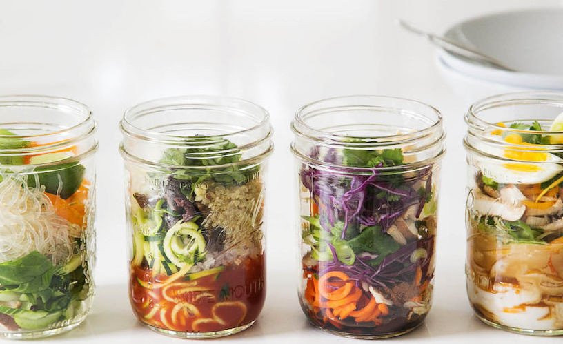 Soups made in mason jars