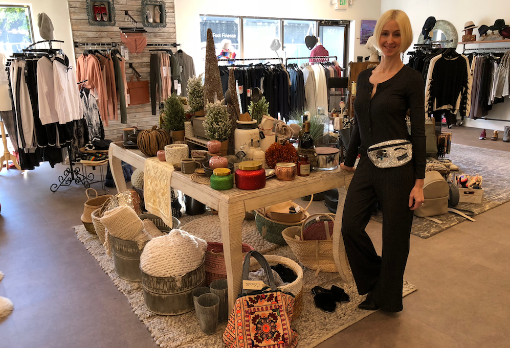 LIsa Berry standing at Love Your Body Boutique