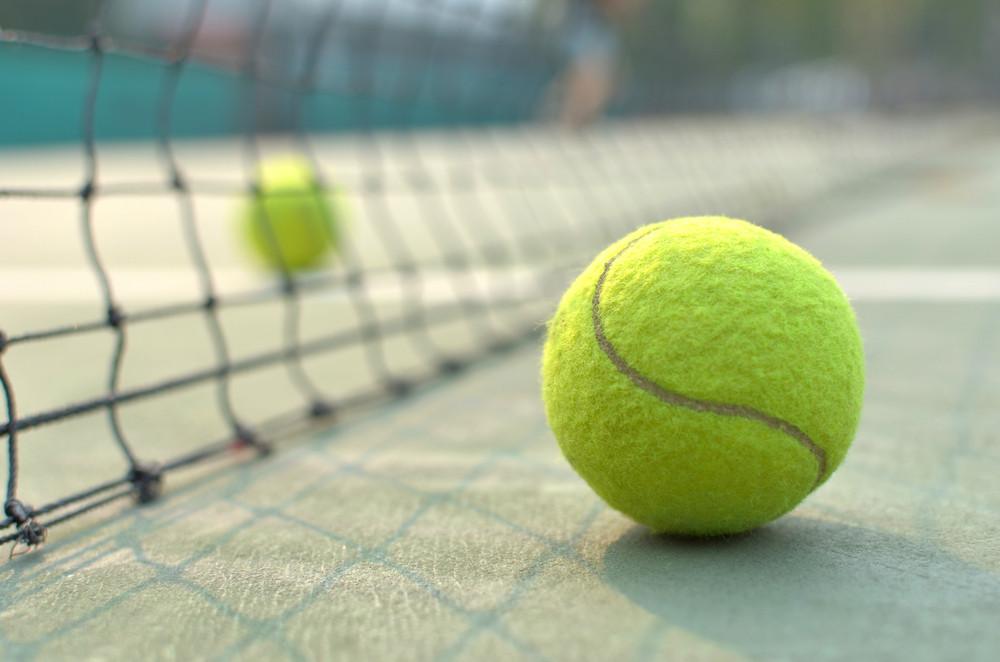 tennis ball on a court