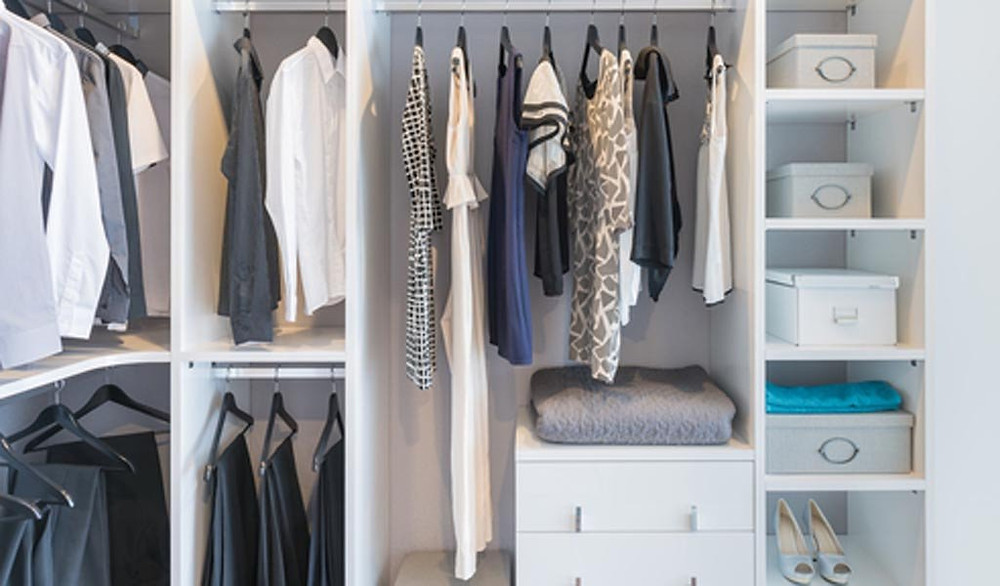 A highly organized and sparse closet