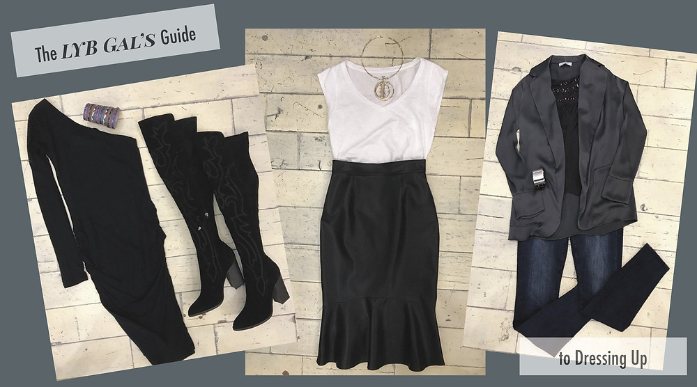 three night outfits styled by Lisa Berry