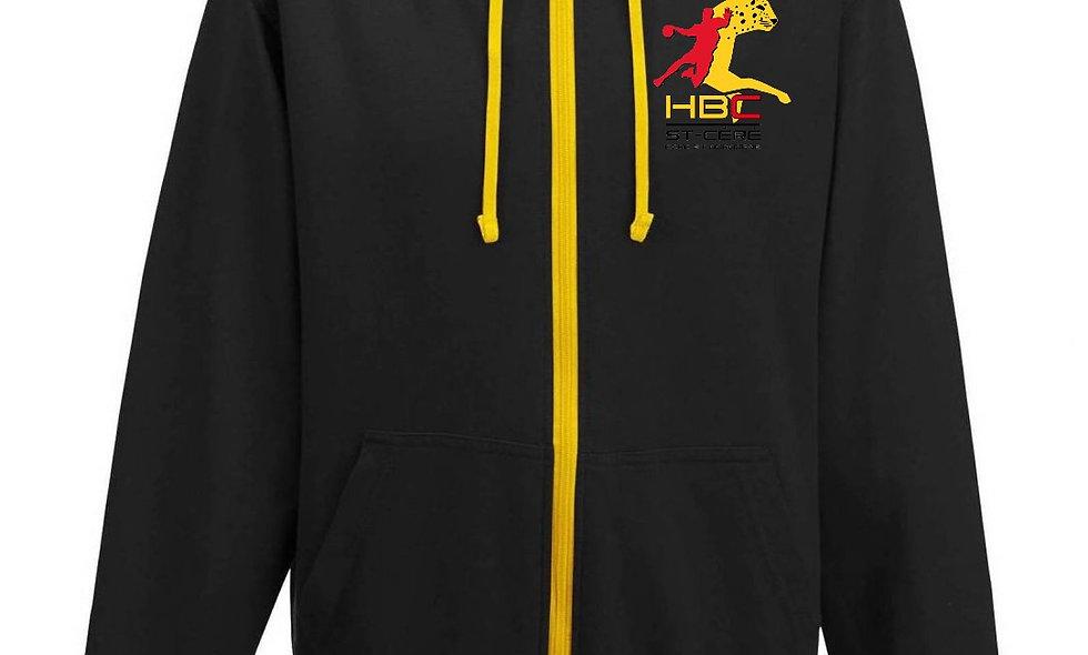 Veste à capuche noir HBC