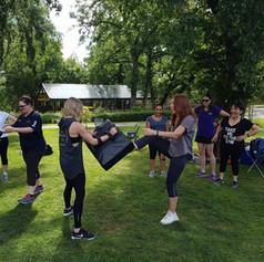 Self defence session in Bendigo