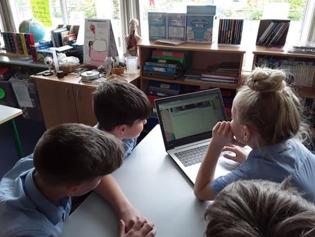 5th & 6th class make a school website
