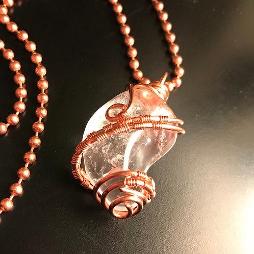 Clear Quartz w/copper