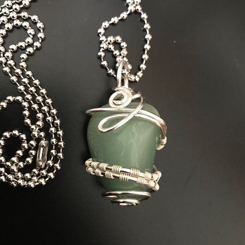 Green Aventurine Weaved Wrap