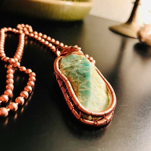 Amazonite Weaved Copper