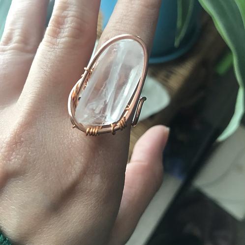 Lemurian Quartz Ring