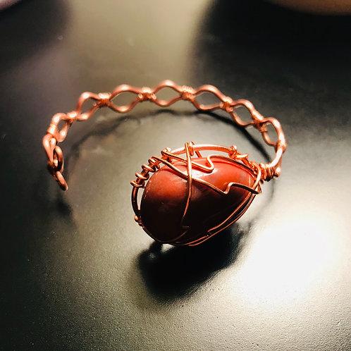 Jasper Copper Bracelet