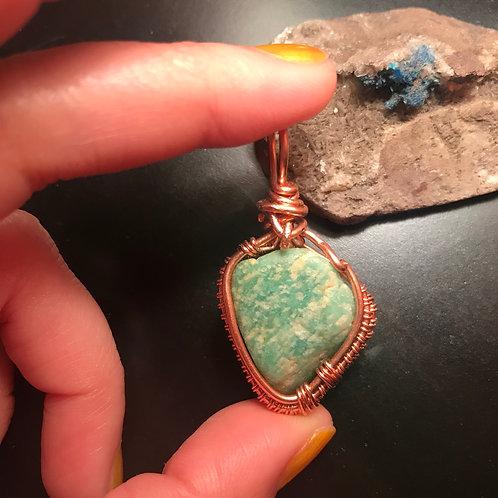 Amazonite w/copper