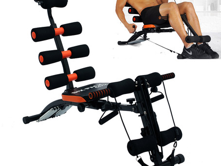 Exercise to do with a six-pack abs care machine