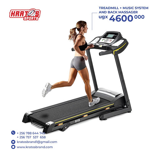 Treadmill (With Music systems and Back Massager)