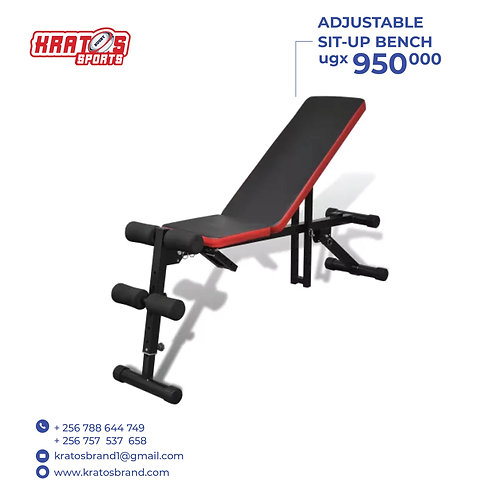 Adjustable sit up bench