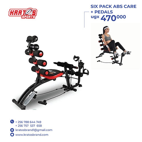 Six Pack abs care with pedals