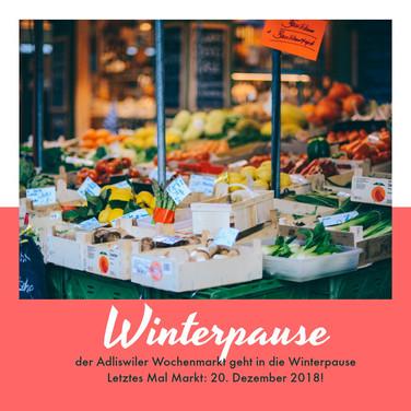 Winterpause Wochenmarkt