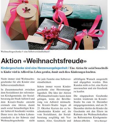 Aktion 'Weihnachtsfreude'