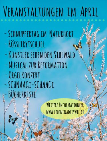 Veranstaltungen im April