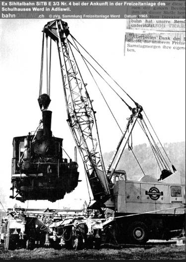 Sihltalbahn-Dampflok nach fast 50 Jahren auf Spielplatz zu gefährlich