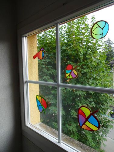 Fensterdekoration basteln
