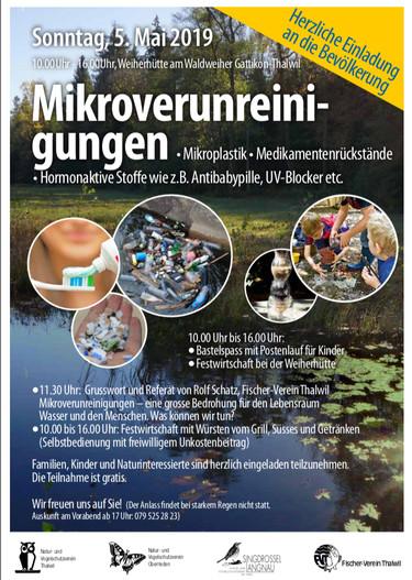 Informationsanlass zu Mikroverunreinigungen in unseren Gewässern