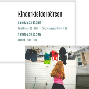Kinderkleiderbörsen in Adliswil und Umgebung