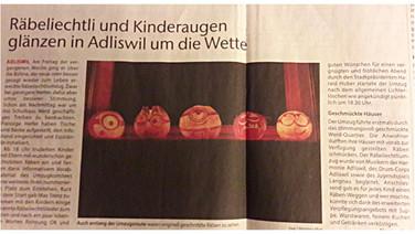"""Blogbeitrag von """"Leben in Adliswil"""" auch in der Zeitung"""