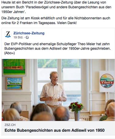 Paradiesvögel in der Zürichsee-Zeitung