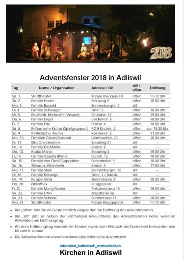 Adventsfenster 2018