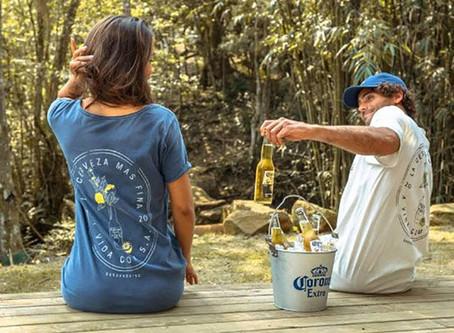 Cerveja Corona lança linha de roupas com marca de Garopaba