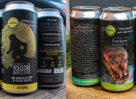 Latas da Cerveja Artéza homenageiam folclore