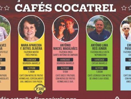 Cocatrel lança cinco cafés do programa Melhores Cafés