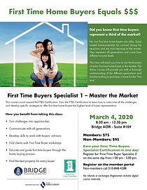 First Time Home Buyer 2020.Upcoming Courses Bridge Aor
