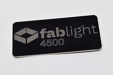 Engraved aluminum tag