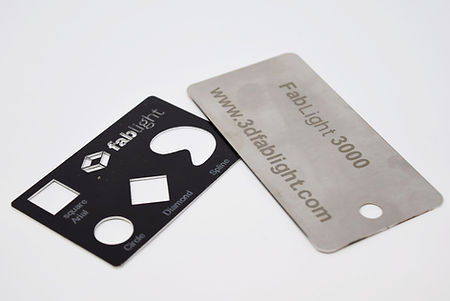 Engraved metal tags
