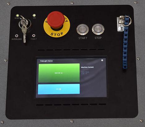 Laser cut control panel