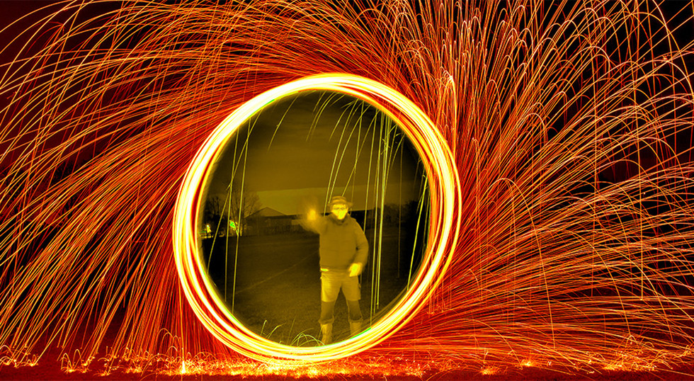Wire Wool Spinning by Carolyn Chapman