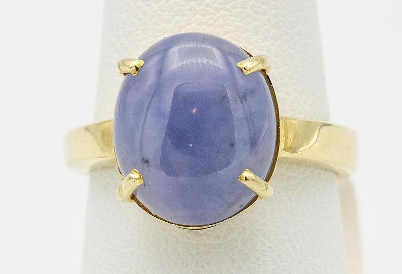 14k Yellow Gold Lavender Jade Ring