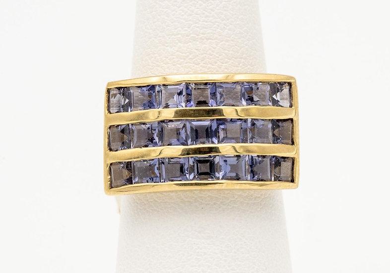 18k Yellow Gold Tanzanite Ring
