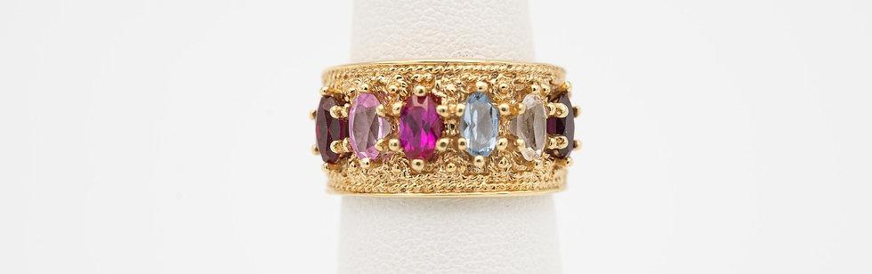 14k Yellow Gold Multistone Ring